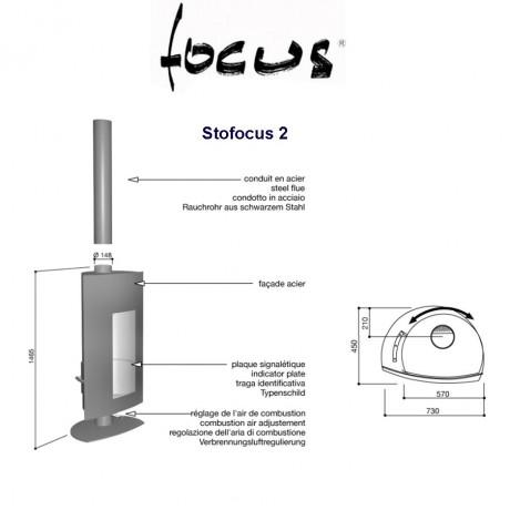 Камин Focus Stofocus 2 центральный