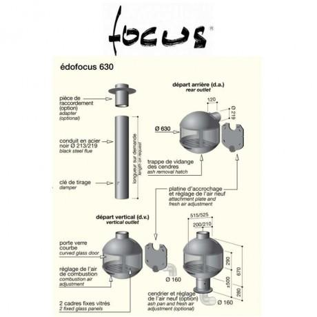 Камин Focus Edofocus скрытый дымоход