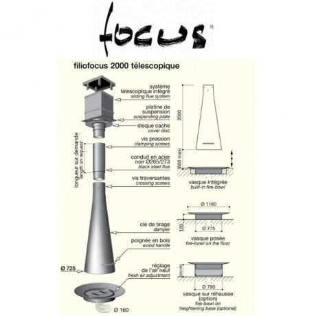 Камин Focus Filiofocus 2000 телескопический центральный